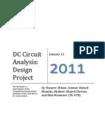 DC Circuit Analysis - Final Lab Design Project