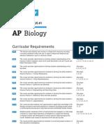 AP Biology syllabus 2021