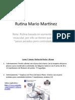Rutina Mario Martínez