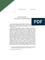 PUDAL, Science Politique, des Objets Canoniques Revisites