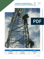 Procedimiento de Seguridad para Construcción de Líneas Eléctricas Aereas
