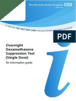 812 - Overnight Dexamethasone suppression test
