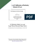The Problematic of the Pareto Principle