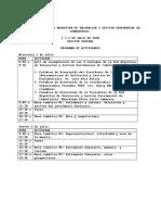 Programa oficial de las X Jornadas de la Red Argentina de Valoración y Gestión Patrimoniales de Cementerios y Libro de Resúmenes 2020