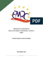 Programa EMRC Cabo Verde