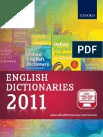 English Dictionaries Catalogue 2011