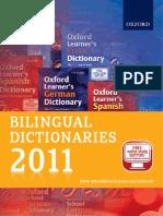 Bilingual Dictionaries Catalogue 2011
