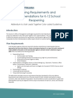 Planning Requirements and Recommendations for K-12 School Reopening