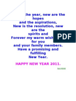 New Year Greetings