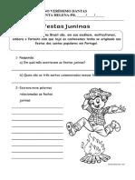 ATIVIDAE FESTAS JUNINAS