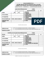 FT-  055 - DC - FORMATO DE CONTROL DE CALIDAD DE ESTERILIZACIÓN
