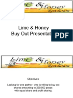 Lime and Honey Buy Out Presentation