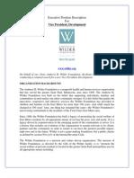 Position Profile - Wilder VP Development