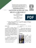 Reporte Determinación de un compuesto orgánico
