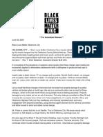 June 29 BLM Statement