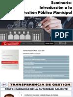 Introducccion a La Gestion Publica Municipal