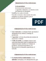 Administración de las restricciones capítulo 7.ppt