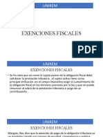 FISCAL CLASE EXENCIONES FISCALES