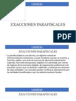 FISCAL CLASE EXACCIONES PARAFISCALES