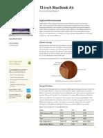 13inch Macbook Air Product Environmental Report