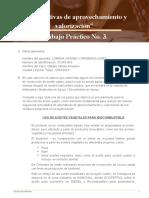 Trabajo Práctico No. 3 Alternativas de aprovechamiento y