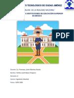 UNIVERSIDADES E INSTITUCIONES DE EDUCACION SUPERIOR EN MEXICO