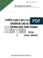 Tuyển chọn theo chuyên đề Toán luyện thi vào 10 - tập 2 (Số học - Hình học)