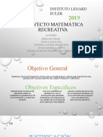 Proyecto Matemática Recreativa Diapositivas
