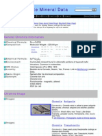 Chromite Mineral Data