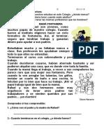 COMPRENSIÓN LECTORA PRIMERO DE PRIMARIA 06-12-19