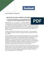 AMBER Alert Press Release (Spanish)