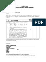 FORMATO No. 4 OFERTA FACTOR DE CALIDAD (1)