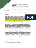 OBJETIVOS PLAN DE ACCIÓN DE MEJORA EDUCATIVA