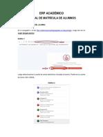 Manual de usuario - Matricula de alumnos