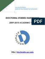 Doctoral Studies Handbook