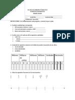 Examen diagnostico Matematicas 1er grado opcion b