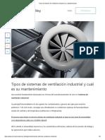 Tipos de Sistema de Ventilación Industrial y su Mantenimiento