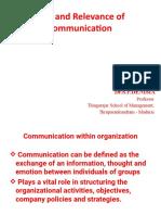 Role of communication PGDM -A &B 1.7.2019.pptx