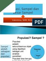 6 POPULASI, SAMPEL, BESAR SAMPEL