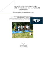 European Frogbit Removal Project- 2010 Report
