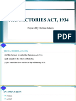 Fcatories act