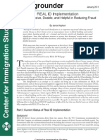 Backgrounder -REAL ID Implementation - CIS Jan. 2011