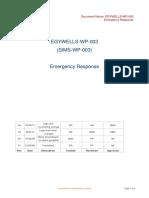 EGYWELLS-WP-003 - Emergency Response