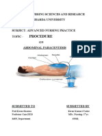 procedure on abdominal paracentsis