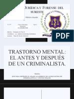 TRASTORNO MENTAL- EL ANTES Y DESPUÉS DE UN CRIMINALÍSTICA (PRESENTACIÓN)