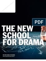 The New School for Drama / Viewbook 2010