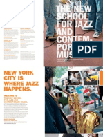 The New School for Jazz and Contemporary Music / Viewbook 2010