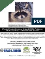 Urban Wildlife Workshop Flyer