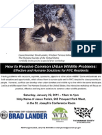 Urban Wildlife Workshop Flyer