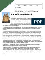 Arte Gótica ou Medieval